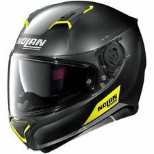 Nolan N87 Emblema Full Face Motorcycle Helmet - Matt Black/Yellow