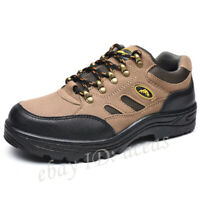 New Men's Steel Toe Smash-Proof Work Boots Breathable Work Safety Climbing Shoes