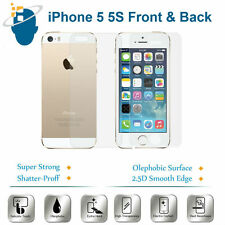Front + Back Ultra Hard Tempered Glass Screen Protector Saver For iPhone 5 5S