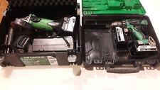 Pack Hitachi meuleuse G 18DSL(S) de 2014 et visseuse DS 18DBEL de 2015