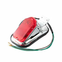 Motorcycle Rear Fender Skull Taillight Brake Stop Tail Light For Harley Softail