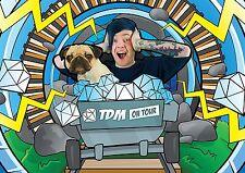 Dan TDM Poster The Diamond Minecart A4 260GSM
