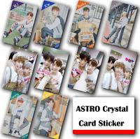 10Pcs / Set Kpop Astro HD Waterproof Lustre Photo card Crystal Card Sticker