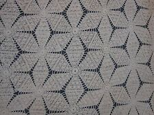"ANTIQUE HAND CROCHET LARGE 92"" X 104"" BEDSPREAD with PINWHEEL HOBNAIL PATTERN"