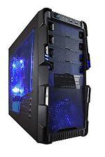 Apevia X-Hermes Metal Case with Side Window-Blue X-HERMES-BL Blue Side Window