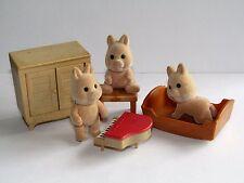 Vintage Sylvanian Families Bundle  TRUFFLE WILD BOAR CHILDREN (PIGS)