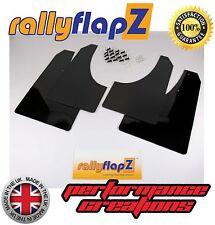 Rally style Mudflaps PEUGEOT 207 Mud Flaps Qty4 rallyflapZ (4mm PVC) Black