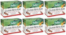(6) ea Safer 07270 Ready To Use Clothes Moth Alert Traps