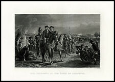 General Pepperall Siege of Louisburg 1878 antique engraved Colonial War print