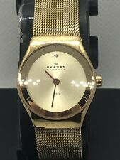 Skagen SKW2045 Women's Watch Stainless Steel Gold Mineral Crystal 3ATM