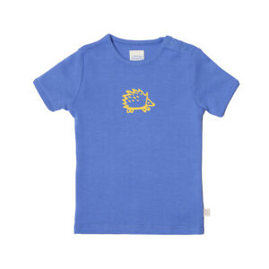 Naturmode Living Crafts Kurzarmshirt Igel blau Junge