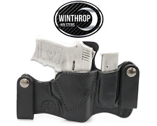 S&W 380 Bodyguard Insight Laser IWB Dual Snap Attached Mag Holder R/H Black