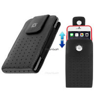 Leather Carry Case Holster Cover for Apple iPhone XS / X - with Swivel Belt Clip