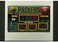 Green Bay Packers Scoreboard Desk & Alarm Clock [NEW] NFL Watch Time Office