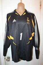 ADIDAS France Football Soccer Goalkeeper Jersey Mens Large Black Gold 2003 NWT