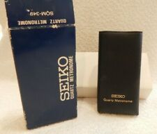 Vintage Seiko Quartz Metronome Sqm-349 Complete Instructions In Original Box