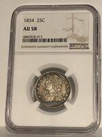 1834 - NGC  AU58 Capped Bust Quarter!!