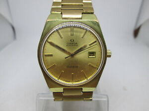 OMEGA GENEVE CAL.1481 DATE GOLDPLATED AUTOMATIC MENS WATCH