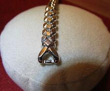 """4.5"""" NewOldStock SPEIDEL Golden Harvest 10K White Gold Filled Watch Band...L@@K"""