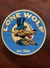 "Lone Wolf Embroidered iron on PATCH -  patch new  3"" Hot Rod Biker Punk"