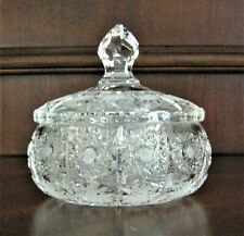 """Bohemia Czech Vintage Crystal Box, 5"""" Wide, hand cut, Queen Lace"""