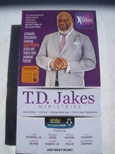 T.D. JAKES Ministries NIV AUDIO BIBLE Experience 80 Disc set. Dramatized TD NEW