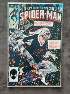 Spectacular Spider-man #90 (Black Cat) (Spider-Man) (Symbiote) VF