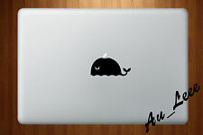 Macbook Air Pro Vinyl Skin Sticker Decal Cute Whale Animal Sea Marine Fish M542