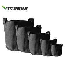 VIVOSUN 5 Pack Fabric Plant Pots Grow Bags w/ Handles 2,3,5,7,15,20,25,30 Gallon