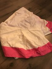 SWELL TWIN BED SKIRT BRIGHT PINK WHITE CYNTHIA ROWLEY