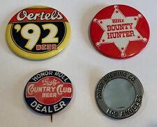 Beer Button Lot Of (4). Pabst, Oertels, Blitz, Goetz