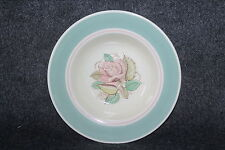 """VTG MID CENTURY MODERN SUSIE COOPER PATRICIA ROSE GREEN FLAT SOUP SALAD BOWL 8"""""""