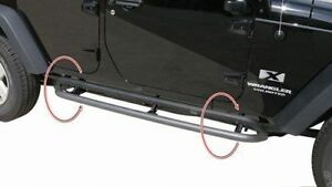 Rampage Retractable Rockguard Steps 07-17 Jeep Wrangler JK 4 Door 88732 Black