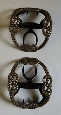 More details for pair georgian silver shoe buckles by william cripps, london. excellent condition