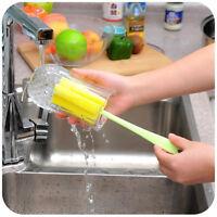 3Pcs Plastic Wine Glass Bottle Cup Sponge Brush Cleaning KitchenTools