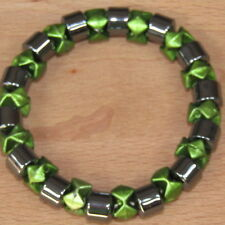 HEMATITE Magnetic Bracelet Stretchy Therapeutic Magnet Chakra Green