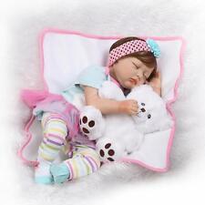 Silicone Reborn Dolls Real Looking Lifelike Baby Girl Newborn Doll Eyes Closed