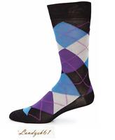 Saks Fifth Avenue Cotton Men's Italy Multicolor Argyl Pattern Socks Sz 10-13