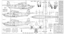 PLS-72001 1/72 Beriev Be-12 Mail Full Size Scale Plans (two A1 format pages)