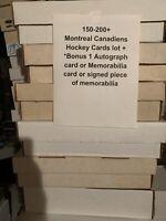 150-200 Montreal Canadiens Hockey Cards Collection Lot +1 Autograph/ Memorabilia