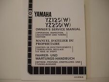 MANUEL ATELIER WORKSHOP MANUAL DE TALLER YAMAHA YZ125 YZ250 1988