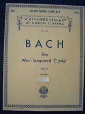 Bach The Well-Tempered Clavier(Bischoff) Piano Book 2-Schirmer Vol 1760-4Qsmc
