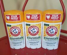 3 Arm & Hammer Essentials Natural Deodorant, Unscented 2.5oz  each