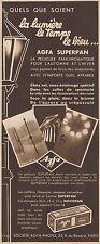 Y8425 Pellicule AGFA Superpan - Pubblicità d'epoca - 1934 Old advertising