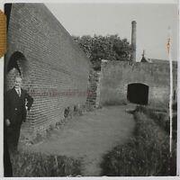 Francia Uomo Fabbrica Foto Stereo PL46Th1n5 Placca Da Lente Vintage C1925
