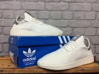 ADIDAS MENS UK 7 EUR 40 2/3 PRIMEKNIT PHARRELL WILLIAMS HU WHITE GREY TRAINERS