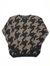 Northern Isles Vintage Ramie Handmade Knitted Houndstooth Sweater Size XL