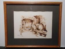 Tableau peinture Vlaanderen cave caveau tonneau vin Selestat Alsace Bas Rhin