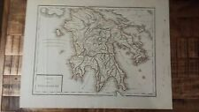 Very Nice, Antique Hand Colored map of Peloponese (Greece) - P. Tardieu, c.1790