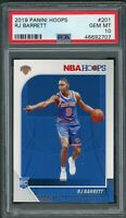 RJ Barrett New York Knicks 2019 Panini Hoops Basketball Rookie Card #201 PSA 10